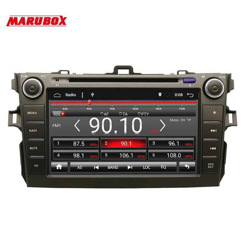 MARUBOX 8A105A4 Car Multimedia Player for Toyota corolla 2007 - 2011,Quad Core, Android 7.1,DVD,GPS,Radio, 2GB RAM, 32GB ROM