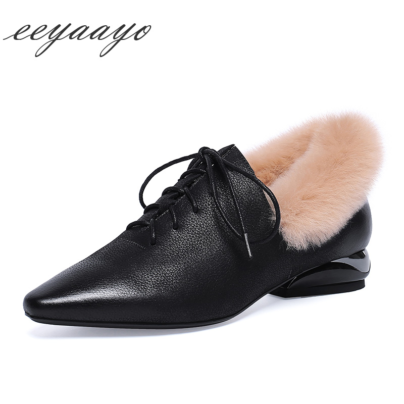 Zapatos Mujeres Bombas Cuadrada Tacón Negro Punta 2018 De Black Las Elegante Vaca Sexy Bajo Cuero Invierno Nuevo Genuino Señoras Encaje 0q0FYaw