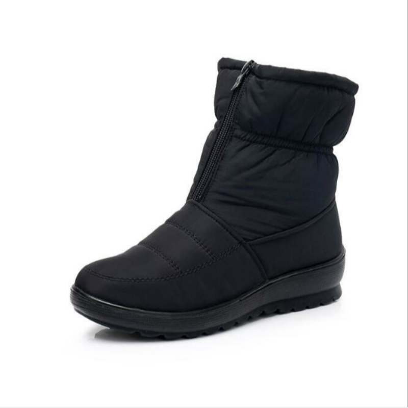 Promotion Women Boots Snow Boots Woman Ankle Platform Wedges Fashion Slip-on Waterproof Winter New Plus Velvet Warm Shoes Woman