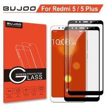 2 Pack 100% Original BUJOO 2.5D 0.3mm 9H Full Cover Screen Protector Tempered Glass For Xiaomi Redmi 5 Xiomi Plus Film