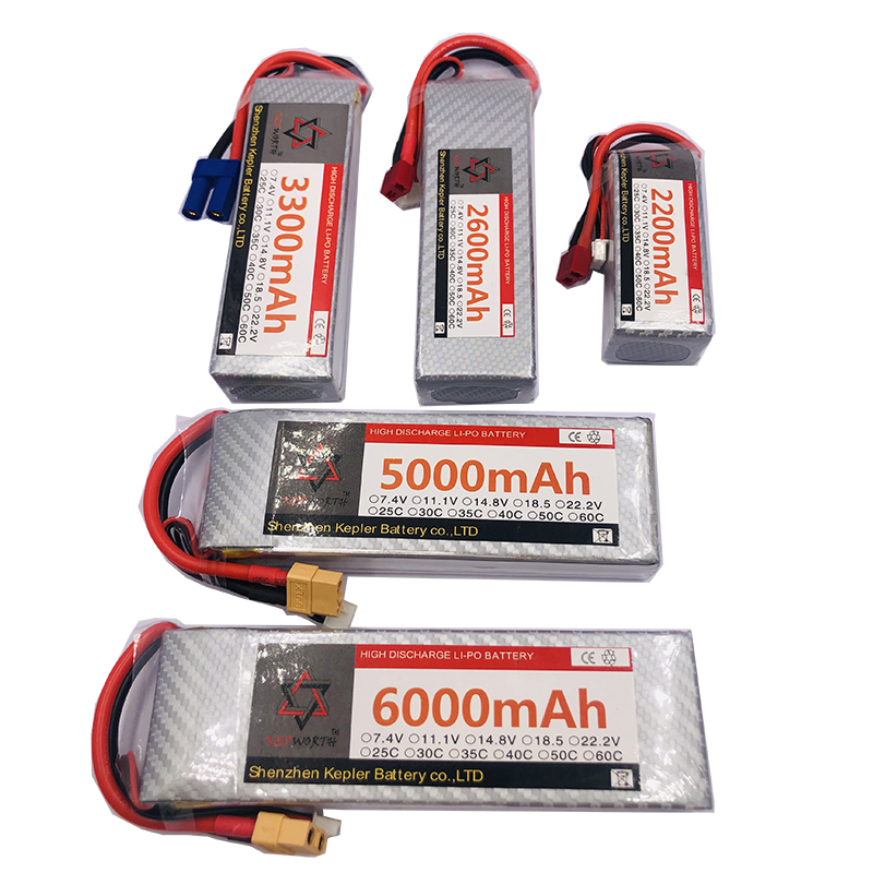 <font><b>4s</b></font> 14.8v RC <font><b>Lipo</b></font> <font><b>Battery</b></font> 6000 2200 2600 3300 <font><b>5000mAh</b></font> Lithium Ion Polymer <font><b>Battery</b></font> For Car Plane Boat Truck Tank Drone Helicopter image