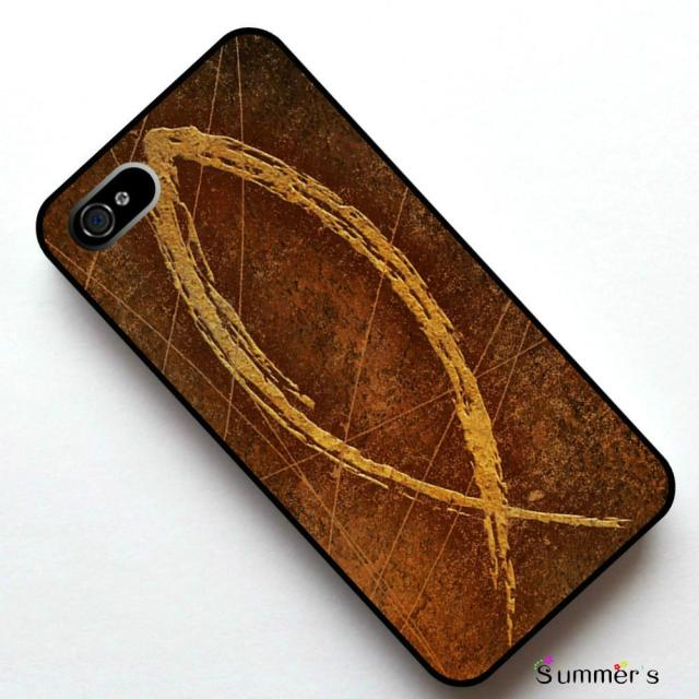 Christian Fish Symbol Cellphone Case Cover For Iphone 4s 5s 5c 6s
