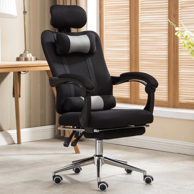 High Quality Mesh Computer Chair Lacework Office Chair Lying And Lifting  Staff Armchair With Footrest Free Shipping In Office Chairs From Furniture  On ...