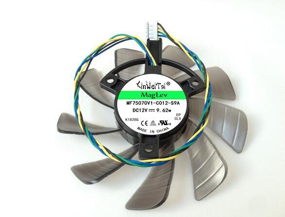T129215su 12 V 0.50a para Asus gtx460 hd6790 hd6870 gtx560 tarjeta gráfica ventilador 4pin 4 Alambres