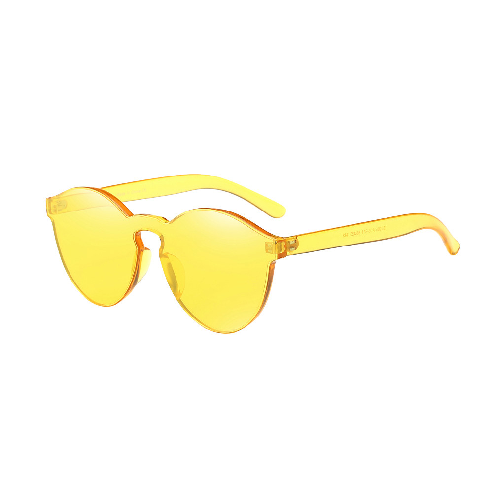 Oval Sunglasses Women Fashion Cat Eyes Shades Sunglasses Integrated UV Candy Colored Glasses Steampunk Goggles in Nine Colour