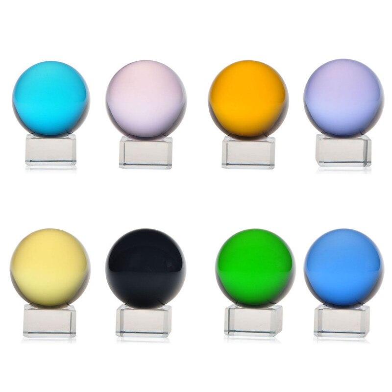 8 Color Lot 40mm Sphere Magic Asian Quartz Crystal Ball