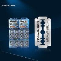Yingjili marca 2017 100 pcs diamante importado lâmina dupla lâmina de idade pós ferramenta dedicada homens lâmina de barbear dos homens duráveis sharp lâmina