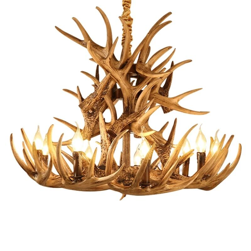 Hot sale brown antlers chandelier resin lamp modern led antler hot sale brown antlers chandelier resin lamp modern led antler chandelier lustre chandeliers e14 vintage lights novelty lighting in chandeliers from lights mozeypictures Image collections