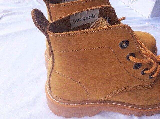Фото careaymade новый стиль обувь из натуральной кожи ботильоны ручной