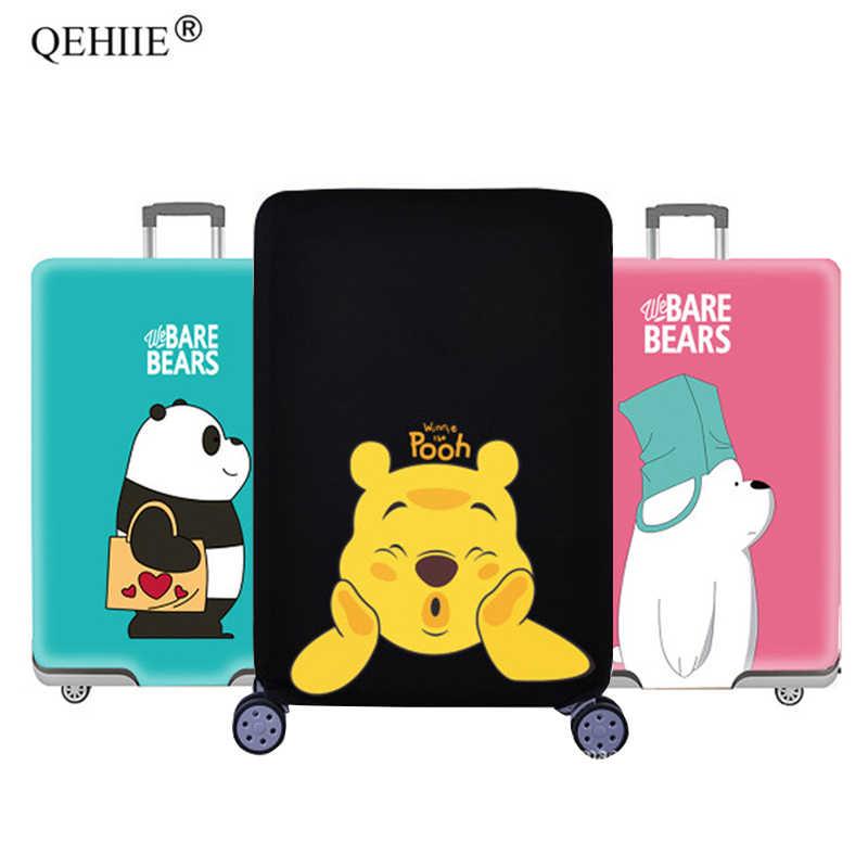 e0db274bc Detalle Comentarios Preguntas sobre QEHIIE 2019 dibujos animados equipaje  cubierta elástico cubiertas protectoras 18 32 pulgadas carro maletero polvo  de la ...