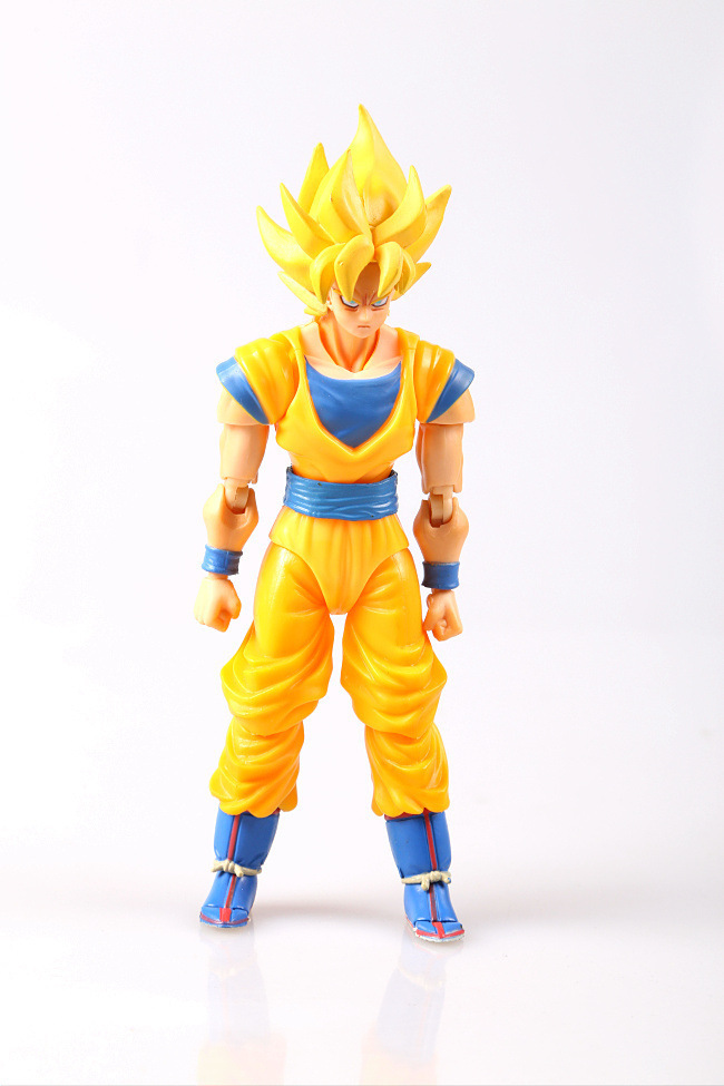 14cm SHF Dragon Ball Model Super Saiyan Son Goku Action Figure Movable Joints Face Change Son Goku Figure Toy cmt cmt datong super mario shf action figure toy sh figuarts mario model with accessories set action figure