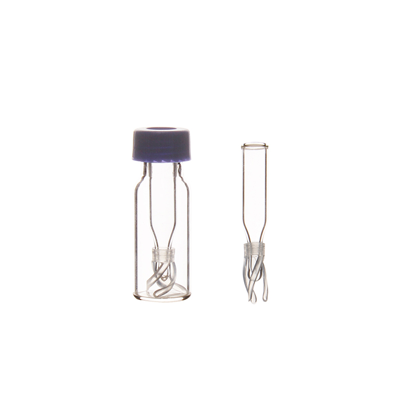 100 Pieces 250ul Micro Volume Glass Vial Insert Cone Bottom With Spring Feet For 9-425 Vial