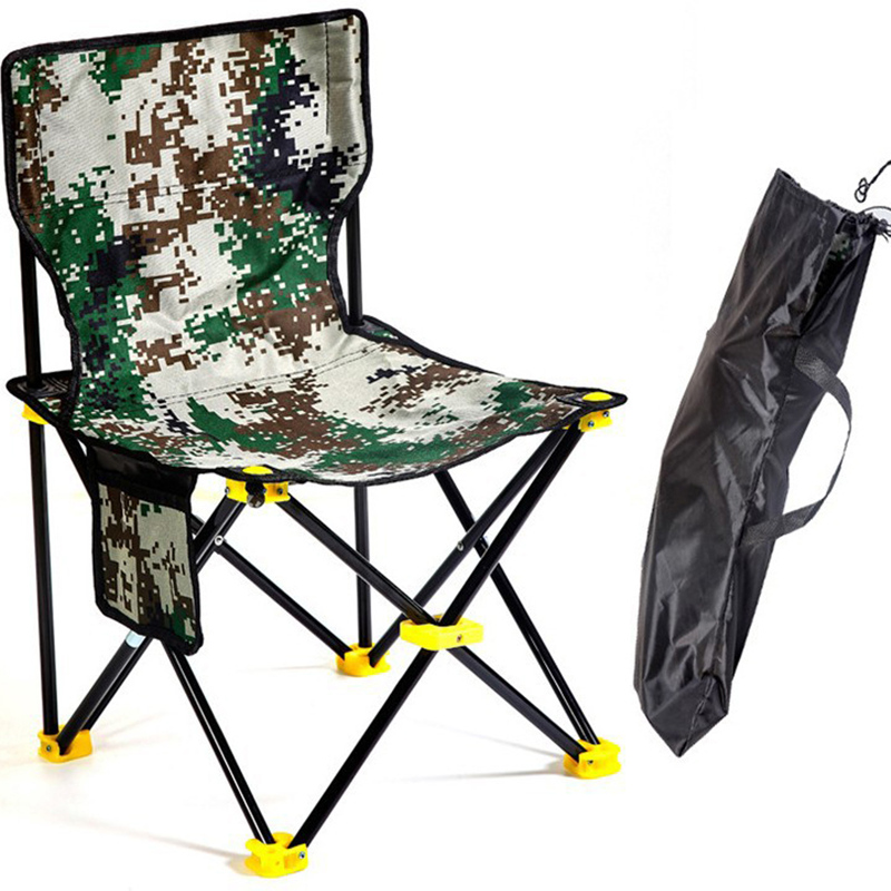 Lightweight Outdoor Fishing Chair Portable Folding Seat Camping Oxford Cloth Foldable Picnic Fishing Beach Chair with Bag outdoor fishing chair beach with bag portable folding chairs fishing camping chair seat oxford cloth lightweight seat bbq