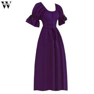 Платье женское, винтажное, с коротким рукавом и О-вырезом, в стиле ретро, для косплея, Feb13