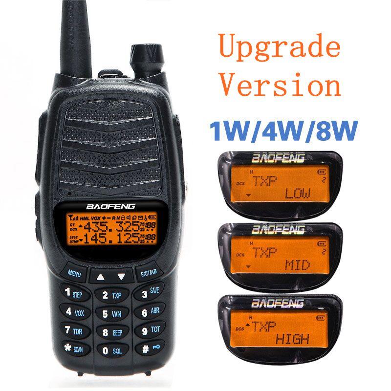 Baofeng UV-X9 8 w Puissant Talkie Walkie Mise À Niveau de UV-82 Haute Puissance Double PTT VHF/UHF Double Bande 10 km Longue Portée CB Portable Radio