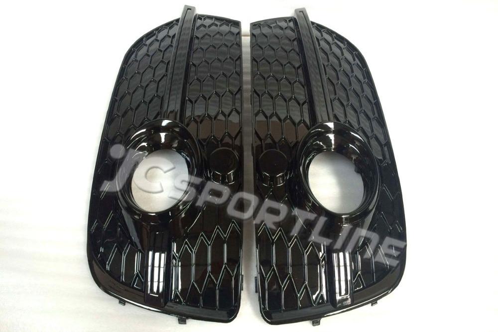 ФОТО Black color Q3 To RSQ3  Auto Car styling  Fog Light cover,Front  fog Lamp Mask trim  for Audi(Fit Q3 SQ3 RSQ3 2013-2014)