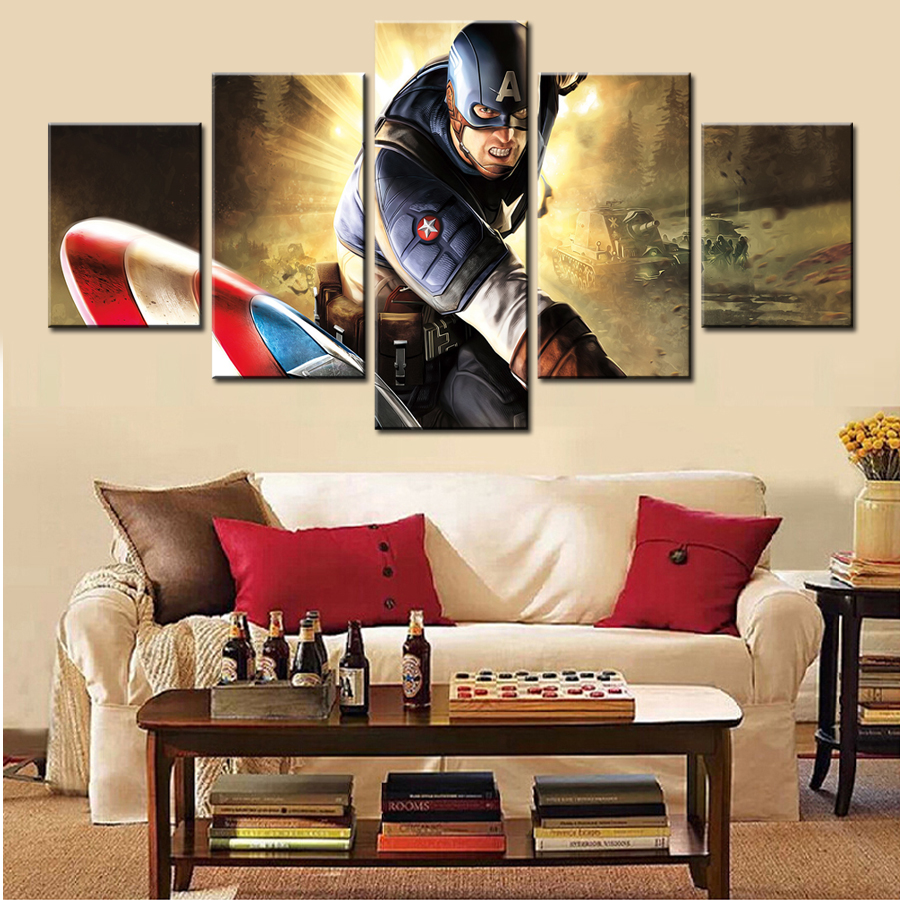 cool modern art promotionshop for promotional cool modern art on  -  home decor cool captain america  pcs wall art modern picture paintingcanvas gift supplies hang frame