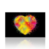 FREE SHIPPING Modern Artwork Bright Color Heart Canvas Painting Designs 1Panel For Bedroom And Living Room