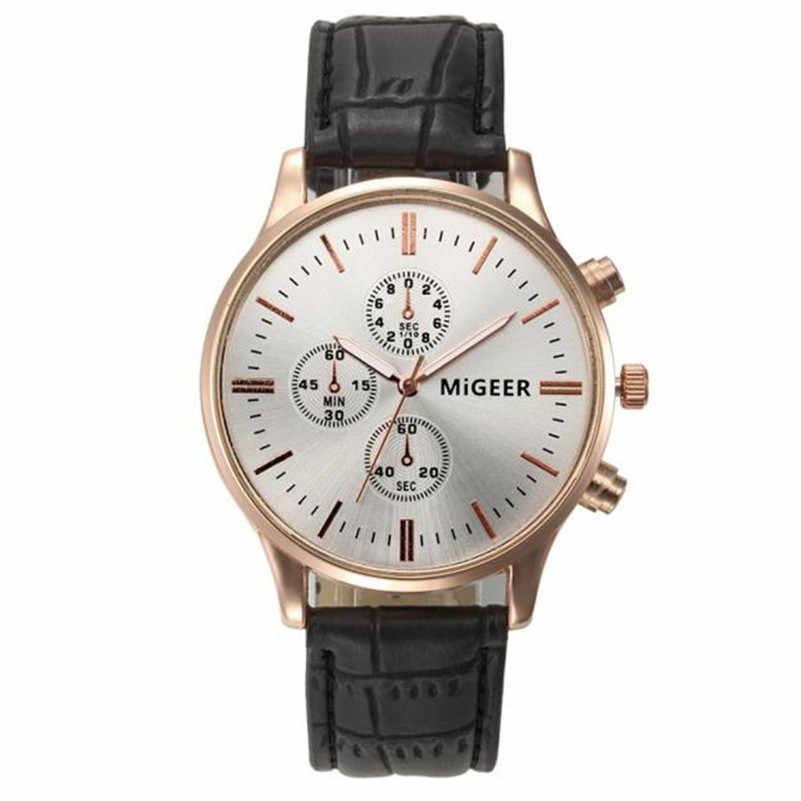זכר יד שעונים באיכות גבוהה שעון אופנה גברים ספורט אנלוגי קוורץ עור נירוסטה מקרה שעון relojes para hombre Q5