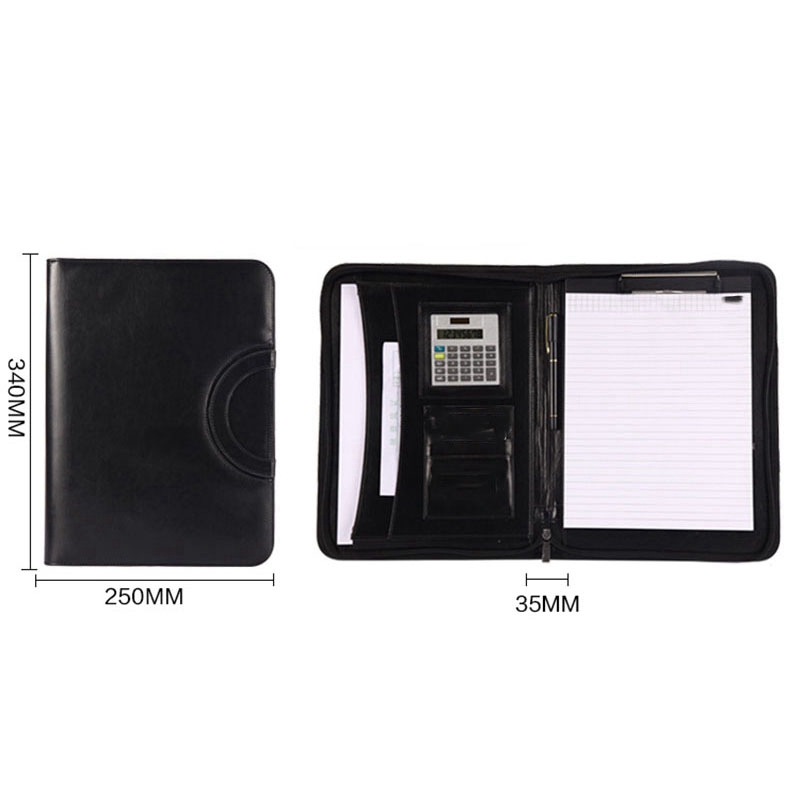 A4 Folder Multi Function Portable Zipper Bag Folder Manager Clip Sales Entrainment Calculator Amount in File Folder from Office School Supplies