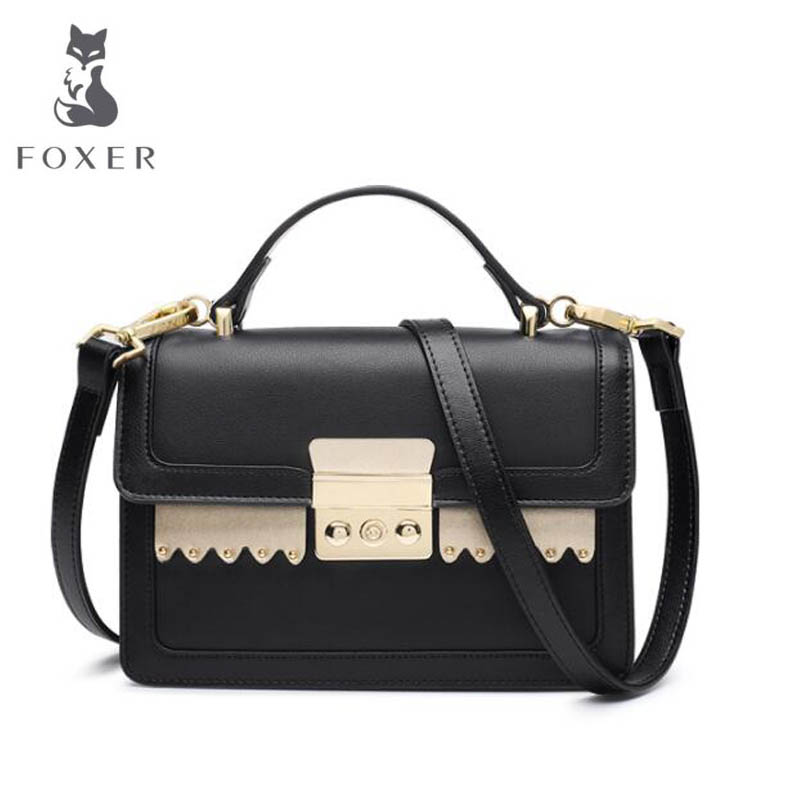 2018 New FOXER women leather bag fashion luxury small bags women famous brand designer shoulder bag Handbags & Crossbody bags famous brand handbags women shoulder bag designer chain leather bag small crossbody bags for women messenger bags