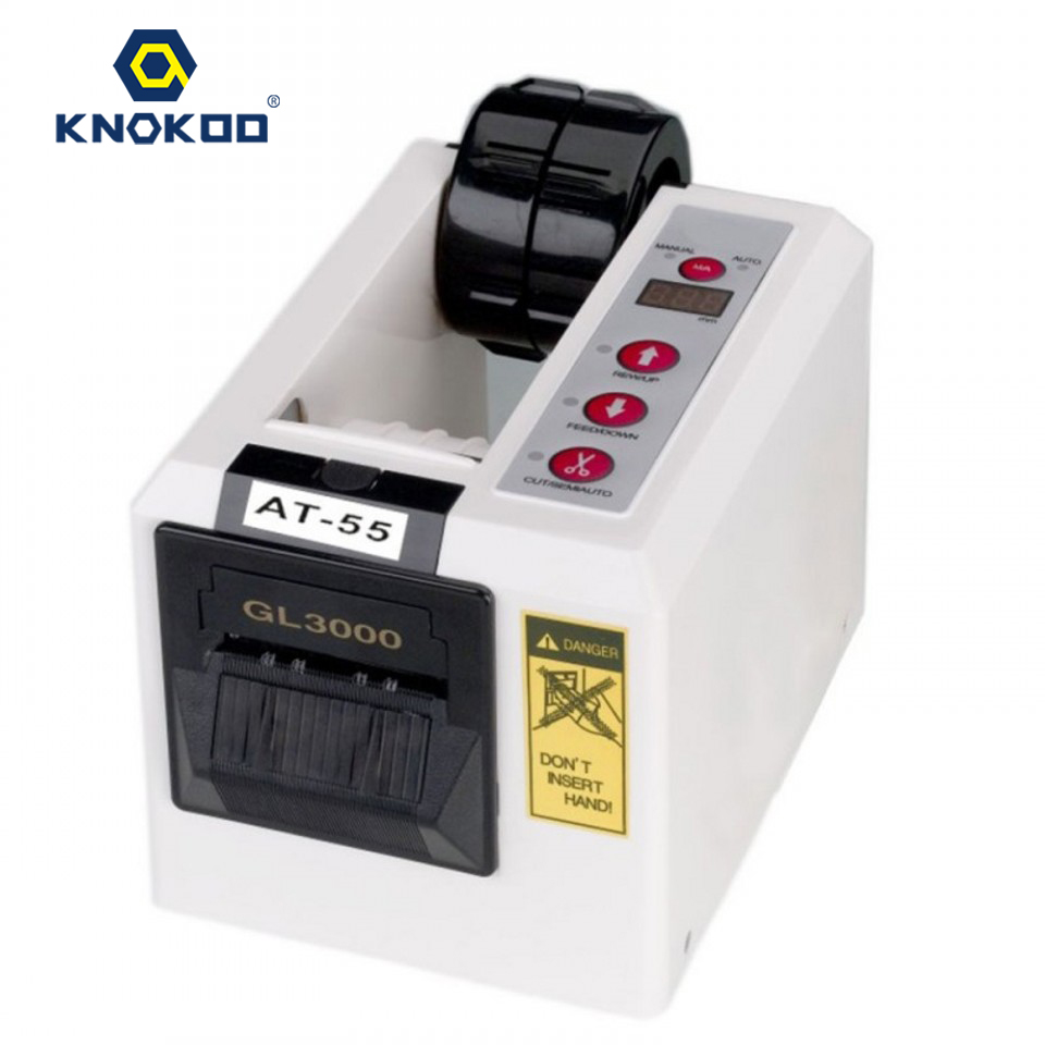KNOKOO ELectronic Automatic Packing Tape Dispenser AT-55/GL3000 Tape Cutter Machine automatic tape dispensers electric tape dispensers automatic tape cutter machines automatic tape dispensing machines
