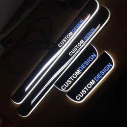Пользовательские Акрил светодио дный Накладка порога Чехлы для Mercedes AMG W210 W202 W219 W211 E и C-class Тюнинг автомобилей авто аксессуары