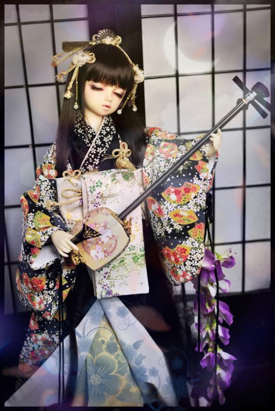 BJD Props Music Koto kimono Haori Huakui mounted - 1/3 uncle
