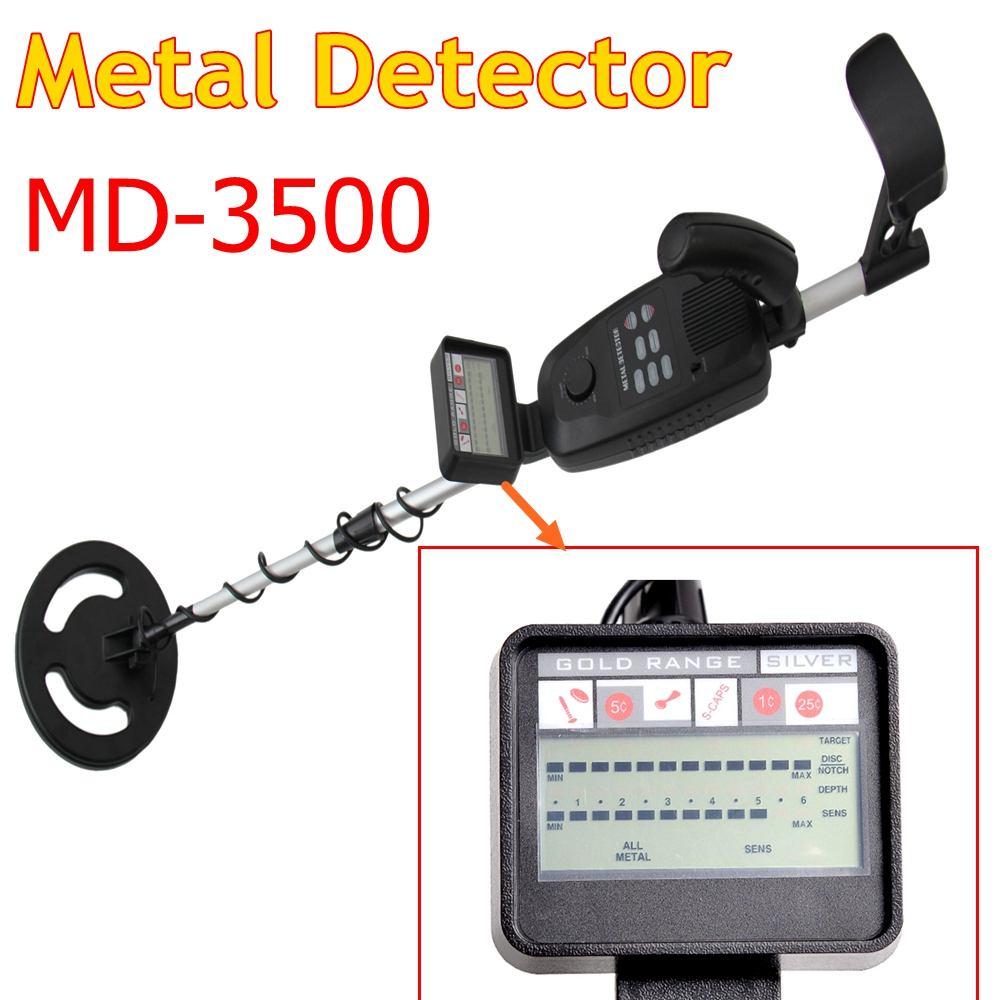 Détecteur de métaux souterrain MD-3500 MD3500 détecteur de chasse au trésor recherche de métaux détecteur d'or argent détecteur de clous détecteur de métaux