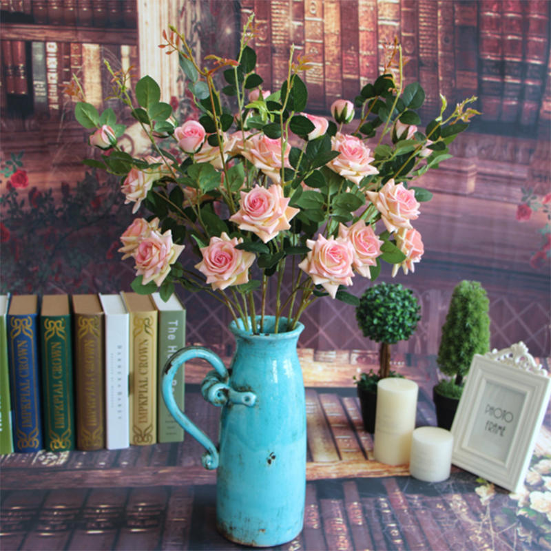 5pcslot Simulation Roses Silk Flower Hydrangea Wreath Diy