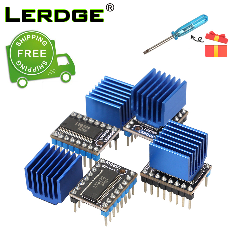 LERDGE 3D Printer Parts LV8729 Stepper Motor Driver module 128 Subdivisions with 4PCS or 5PCS Free ShippingLERDGE 3D Printer Parts LV8729 Stepper Motor Driver module 128 Subdivisions with 4PCS or 5PCS Free Shipping