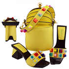Newest Style Fashion Party Shoes and Bags To Match Mint Green African Shoe and Bag Set Italian Shoes and Bag Set with Appliques - 6