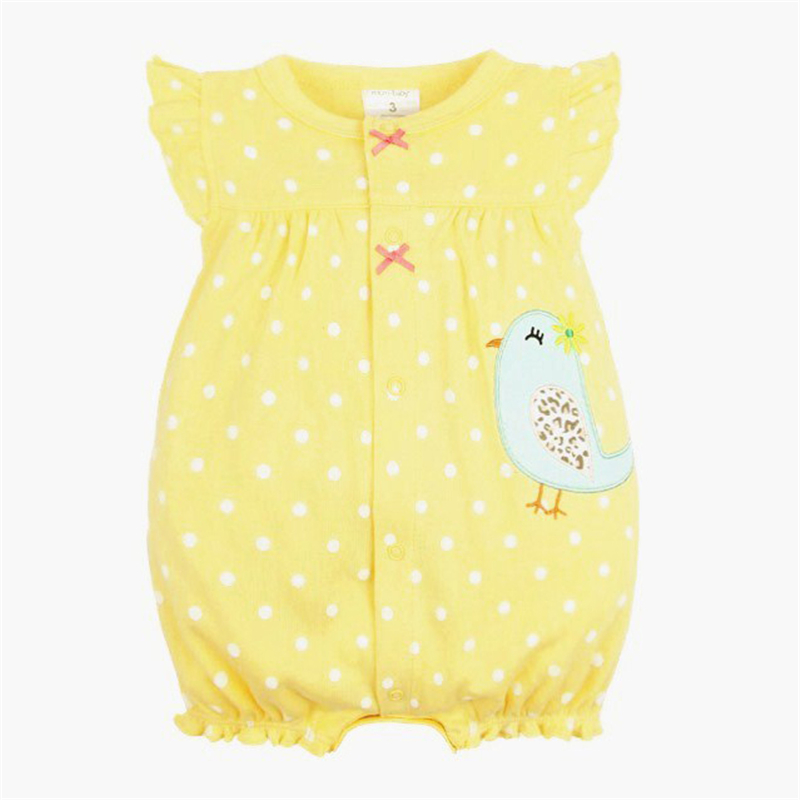 Baby Rompers Summer Baby Girls Clothing Cartoon Newborn Baby Clothes Roupas Bebe Short Sleeve Baby Girl Clothes Infant Jumpsuits 8