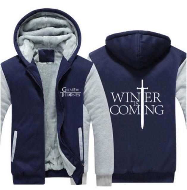 New Game of Thrones Direwolf Ghost House of Jacket Sweatshirts Thicken Hoodie