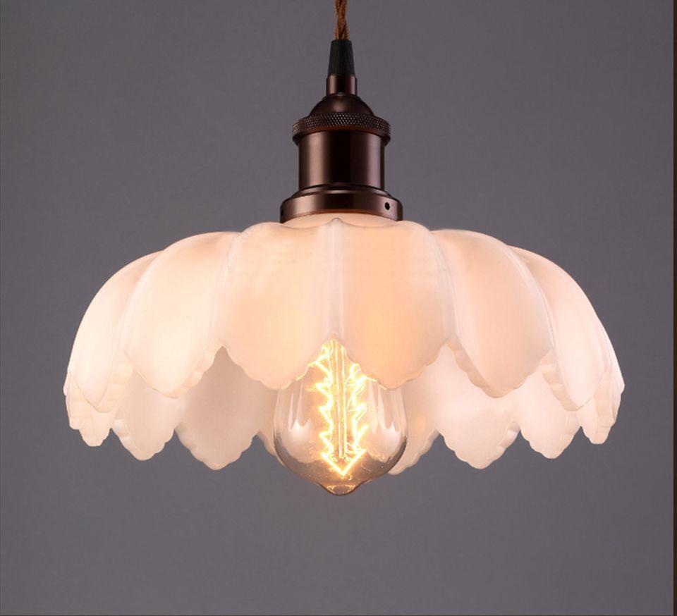 loft lotus flower vintage pendant lights industrial pendant lamps lustres e pendentes sala jantar fixture lighting antique industrial pendant lights white