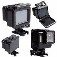 Black Waterproof Housing Case Touch Screen Back Door For Gopro Hero 6 Hero 5 Underwater Box