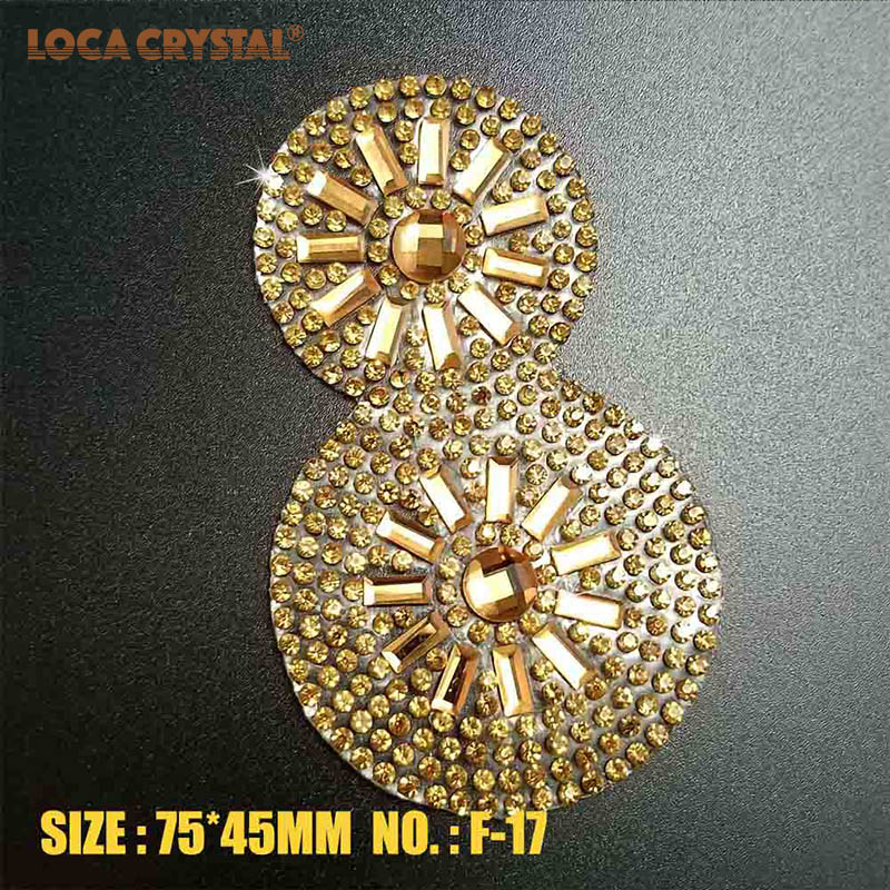 Custom Fancy Round Crystal Glass Beaded Patches Rhinestone Appliques For  Dress LOCACRYSTAL d92803c1ef0f