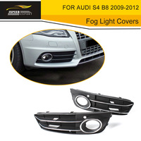 ABS Car Front Fog Lamp Mask Fog Light Covers Grill Grd For Audi S4 B8 2009