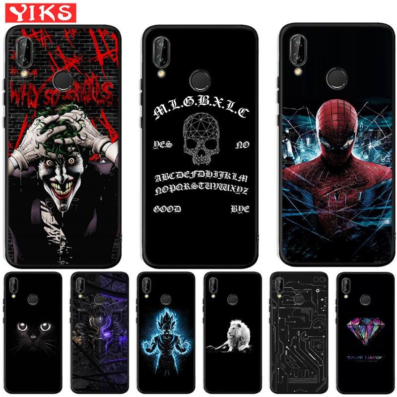 Luxury Spiderman Joker Case For Huawei Mate 9 10 20 P8 P9 P10 P20 P30 Lite Plus Pro 2017 Cover