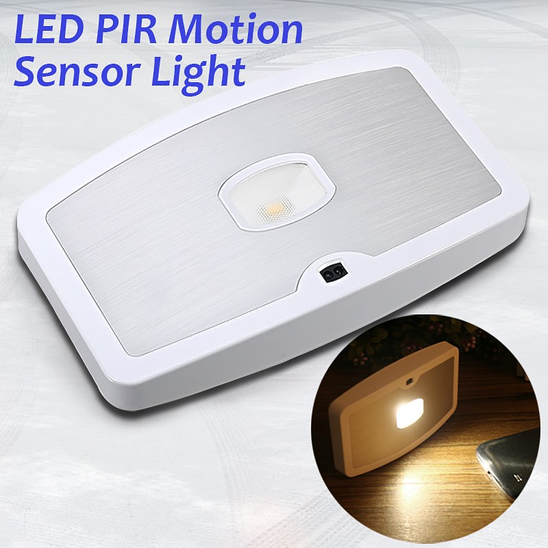 LED PIR Human Body Motion Sensor Night Light Lamp Cabinet Lights Battery Powered 4.5V tsleen 1x cabinet pir motion sensor led cupboard shed garage light usb battery powered