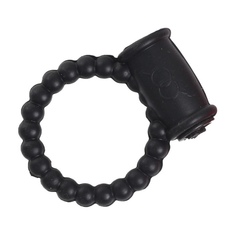 New 2016 Sex Products Delay Spray Silicone Pearl Vibrating Penis Ring Cock Ring For Men