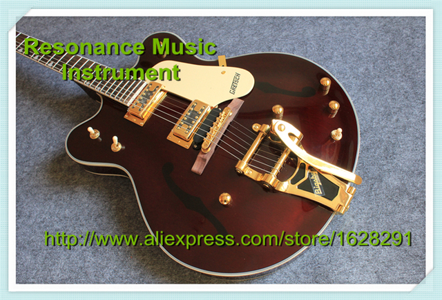 Cheap Custom Shop Gretsch G6122-1962 Chet Atkins Country Gentleman Electric Guitar Brown Color Guitar China Factory