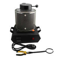 110V Portable Gold Electric Melting Furnaces with Graphite Crucible and Crucible Tong,Gold Silver Melting Furnace for Jewelry