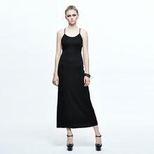 Дьявол Мода 2017 летнее платье в стиле «панк» с простым дизайном