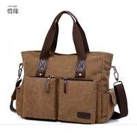 black Khaki New men's handbags multi function men crossbody bag men messenger bags canvas shoulder hand bags man hand bag Coffee