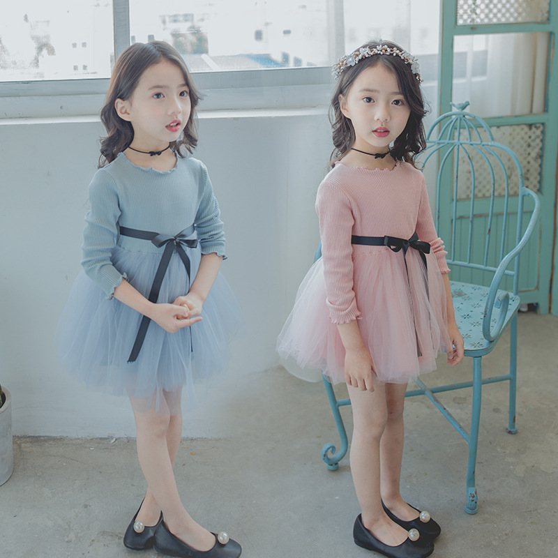 2 3 4 7 8 Years Little Girls Autumn Dress 2018 Spring Children Kids Soft Cotton Clothes  ...