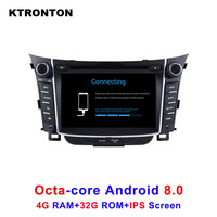 Latest 4GB RAM 32GB ROM Octa Core Android 8.0 Car DVD GPS Player for Hyundai Special I30 with Radio BT Wifi DVR IPS Screen