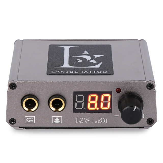 Portable Mini Digital Tattoo Power Supply for Foot Pedal Switch ...