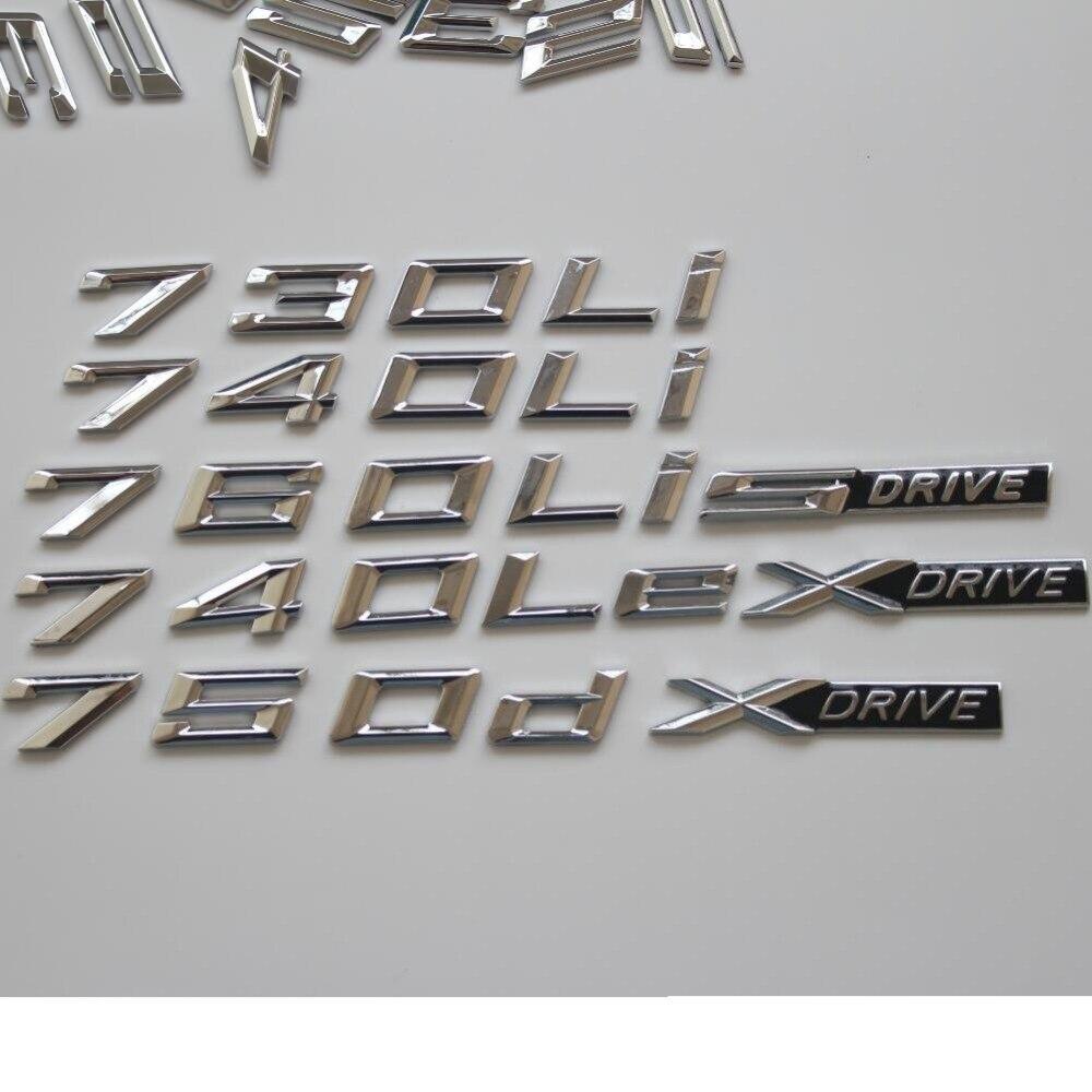 BLACK 760Li REAR TRUNK LETTERS BADGE EMBLEM FOR BMW 7-SERIES F01 F02