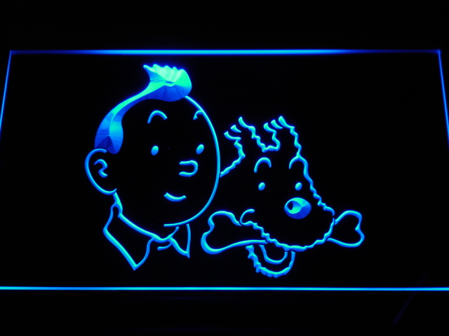 g129 Tintin and Snowy Adventures Comic NEW Light Sign